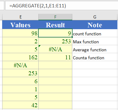 How to use the Excel AGGREGATE function