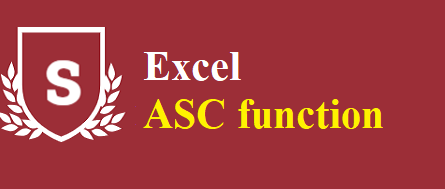 Excel ASC function 445x189 - How to use the Excel ASC function