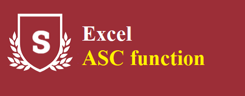 How to use the Excel ASC function