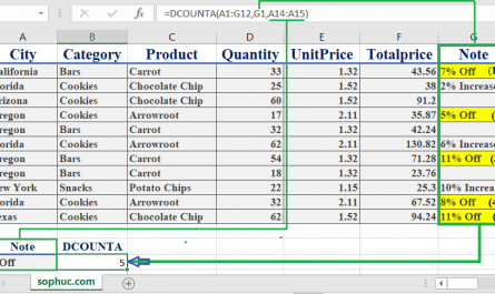 Excel DCOUNTA function 1 445x265 - How to use the Excel DCOUNTA function
