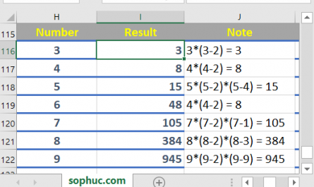 Excel FACTDOUBLE function 1 445x265 - How to use the Excel FACTDOUBLE function