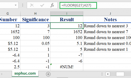 Excel FLOOR function 445x265 - How to use the Excel FLOOR function
