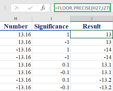 Excel FLOOR.PRECISE function - How to use the Excel FLOOR.PRECISE function