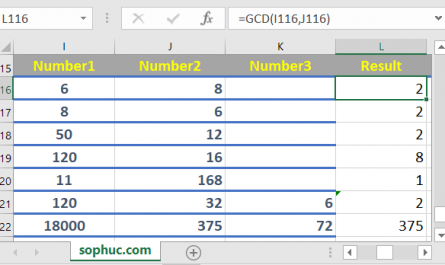 Excel GCD function 1 445x265 - How to use the Excel GCD function
