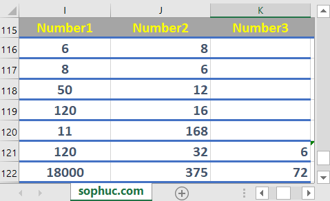 Excel GCD function - How to use the Excel GCD function