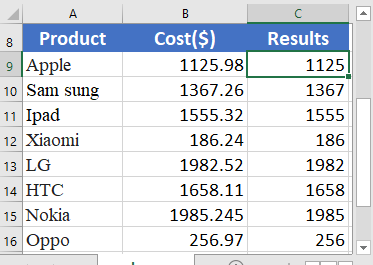 Excel INT function 1 373x265 - How to use the Excel INT function