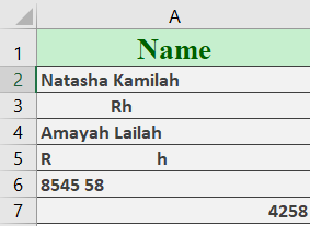 Excel LEN Function 1 - How to use the Excel LEN function