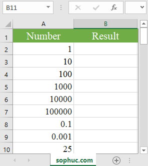 Excel LOG10 function - How to use the Excel LOG10 function