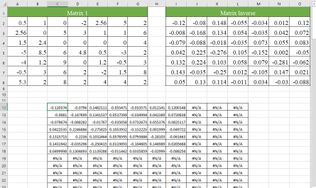 Excel MINVERSE function 6 445x265 - How to use the Excel MINVERSE function