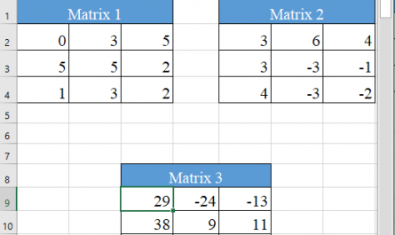 Excel MMULT function 3 445x265 - How to use the Excel MMULT function