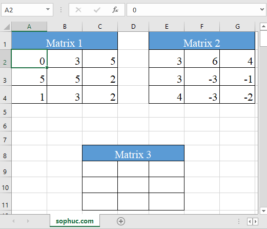 Excel MMULT function 4 - How to use the Excel MMULT function
