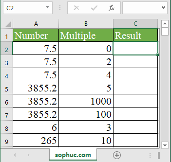 Excel MROUND function - How to use the Excel MROUND function