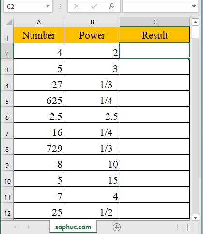 Excel POWER function - How to use the Excel POWER function