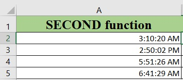 Excel SECOND - How to use the Excel SECOND function