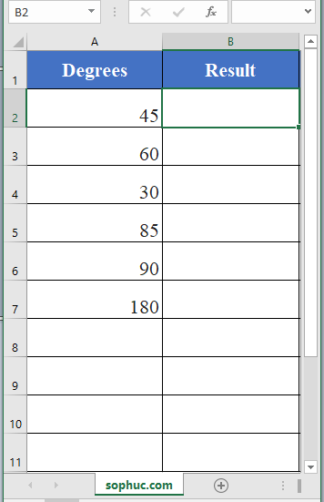 Excel SIN function - How to use the Excel SIN function