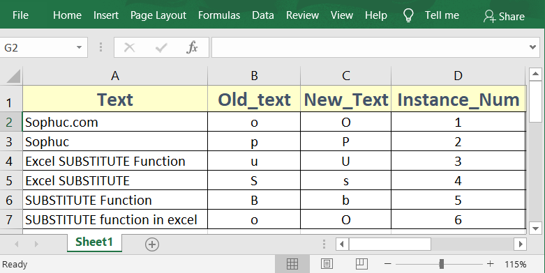 Excel SUBSTITUTE Function 1 - How to use the Excel SUBSTITUTE function