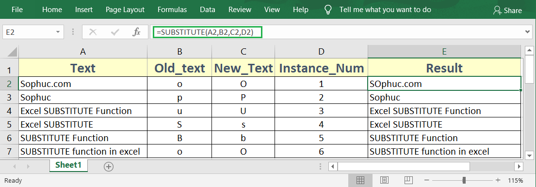 Excel SUBSTITUTE Function - How to use the Excel SUBSTITUTE function