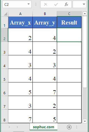 Excel SUMX2MY2 in excel - How to use the Excel SUMX2MY2 function