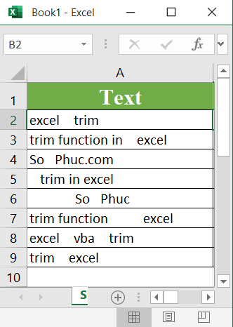 Excel TRIM Function - How to use the Excel TRIM function