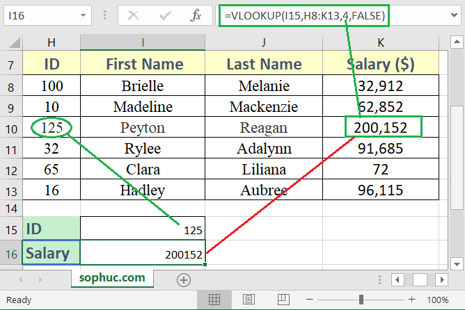 How to use the Excel VLOOKUP function