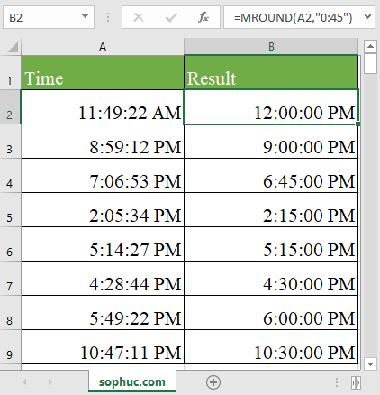 MROUND function in excel - How to use the Excel MROUND function