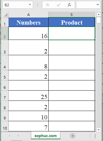 PRODUCT function - How to use the Excel PRODUCT function