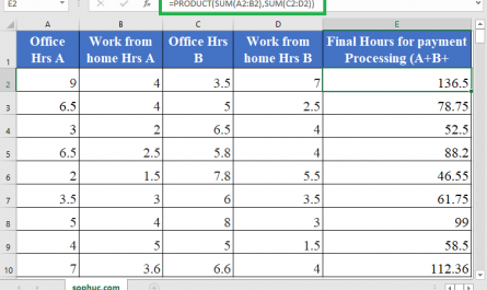 PRODUCT in Excel 445x265 - How to use the Excel PRODUCT function