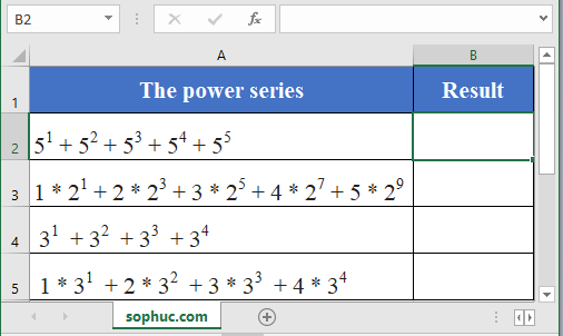 SERIESSUM function - How to use the Excel SERIESSUM function