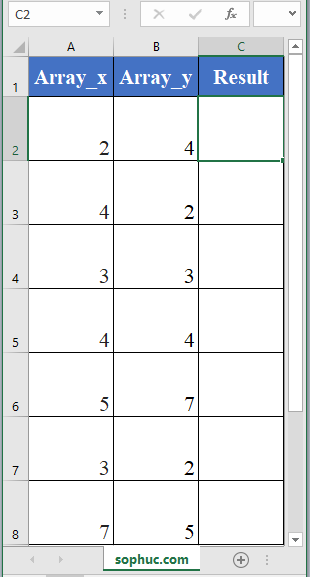 SUMX2PY2 function - How to use the Excel SUMX2PY2 function