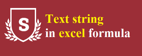 What is a text string in excel