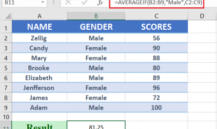 averageif function 445x265 - How to use averageif in excel