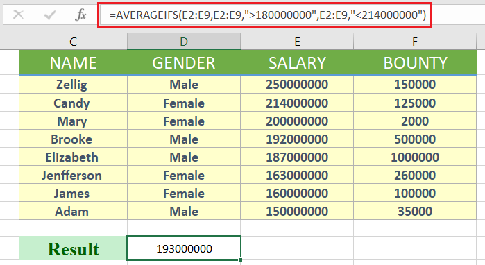 averageifs excel - How to use averageifs in excel