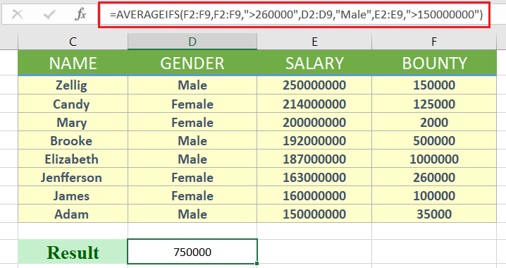 averageifs function - How to use averageifs in excel