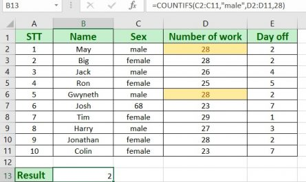 countifs function 445x265 - How to use countifs in excel