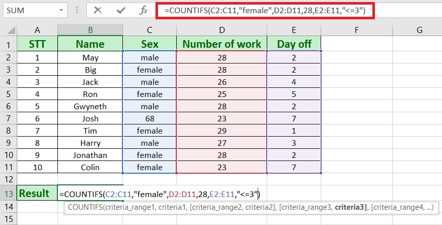 countifs not blank - How to use countifs in excel