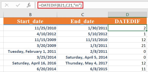 dateif 2 - How to use the Excel DATEDIF function