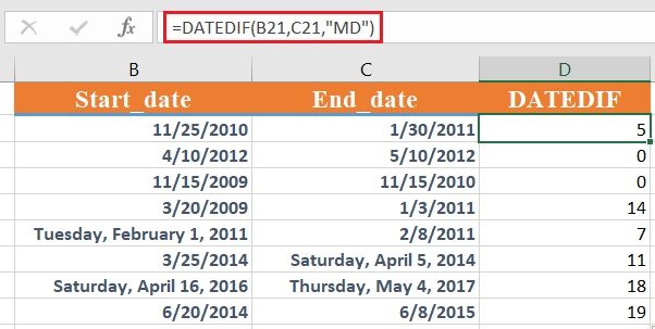 dateif 4 - How to use the Excel DATEDIF function