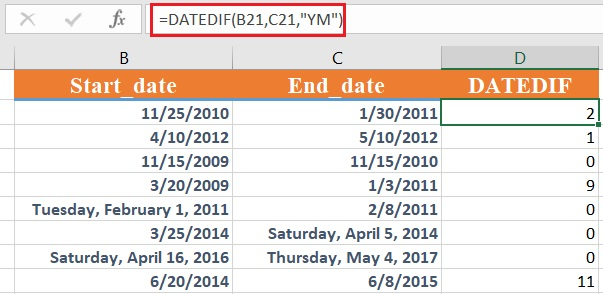 dateif 5 - How to use the Excel DATEDIF function