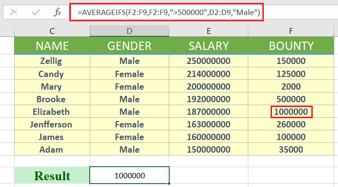excel averageifs - How to use averageifs in excel