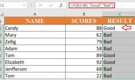 excel if formula 445x265 - How to use if function in excel