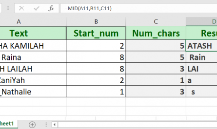 excel mid function 445x265 - How to use the Excel MID function