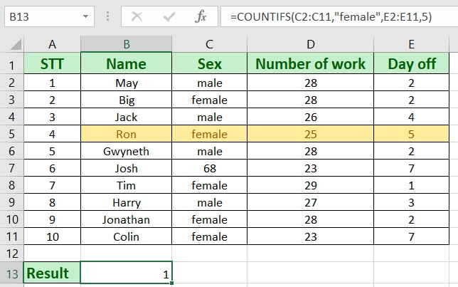 how to use countifs in excel - How to use countifs in excel