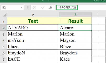 proper function in excel 445x265 - How to use the Excel PROPER function