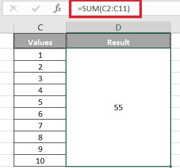 sum excel formula - Sum excel formula