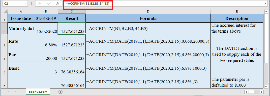 ACCRINTM Function in Excel - How to use ACCRINTM Function in Excel