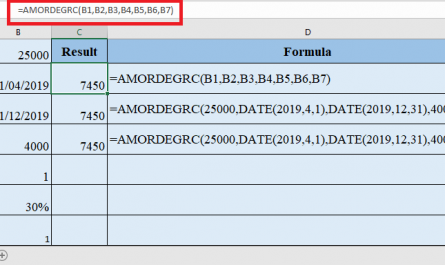 AMORDEGRC Function in Excel 445x265 - How to use AMORDEGRC Function in Excel