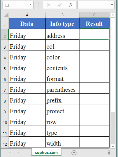 CELL Function - How to use CELL Function in Excel