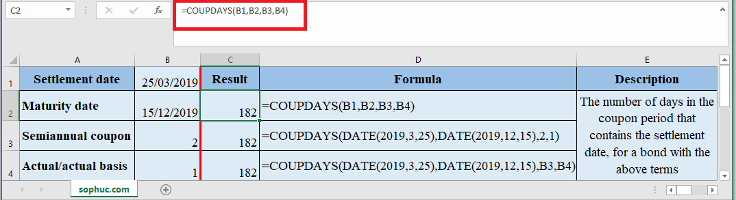 COUPDAYS Function in Excel - How to use COUPDAYS Function in Excel