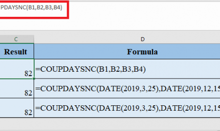 COUPDAYSNC Function in Excel 445x265 - How to use COUPDAYSNC Function in Excel