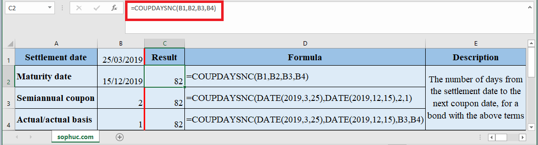 COUPDAYSNC Function in Excel - How to use COUPDAYSNC Function in Excel